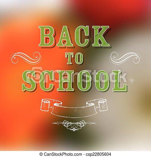 De vuelta a la escuela - csp22805604