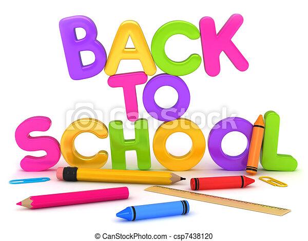 De vuelta a la escuela - csp7438120