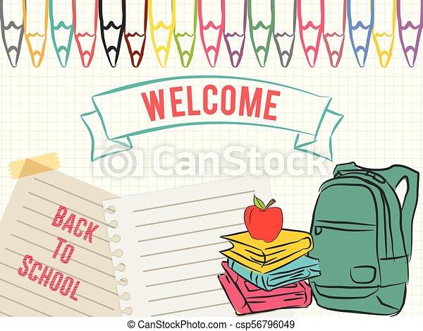 De vuelta a la escuela - csp56796049