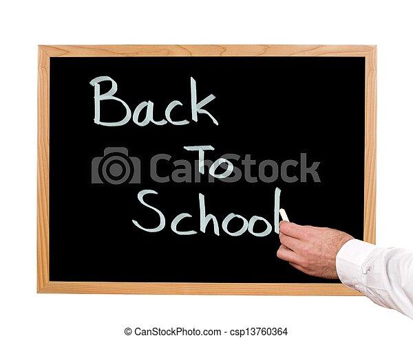 escuela, espalda - csp13760364