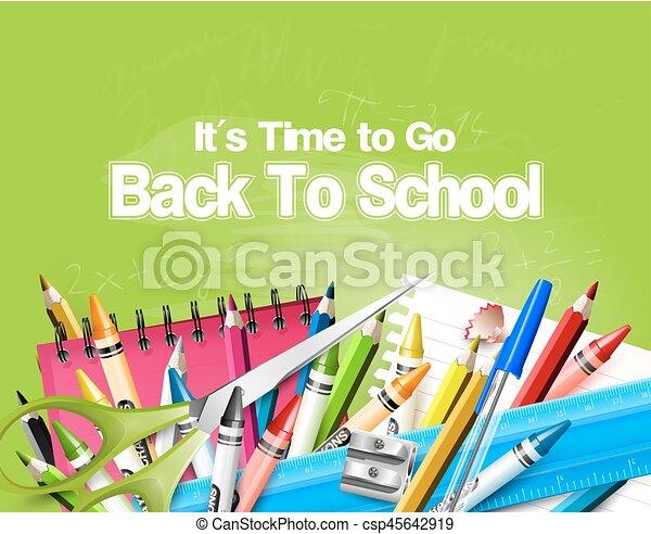 De vuelta a la escuela - csp45642919
