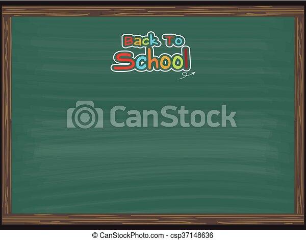 De vuelta a la escuela en pizarra para antecedentes - csp37148636
