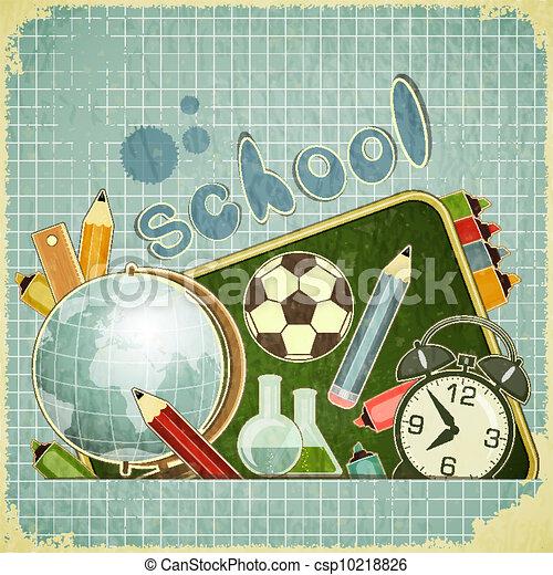 De vuelta a la tarjeta escolar - csp10218826