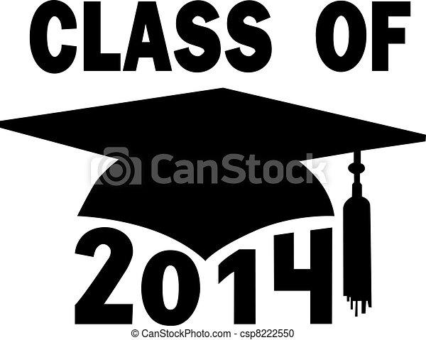 escuela, gorra, graduación, alto, colegio, 2014, clase - csp8222550