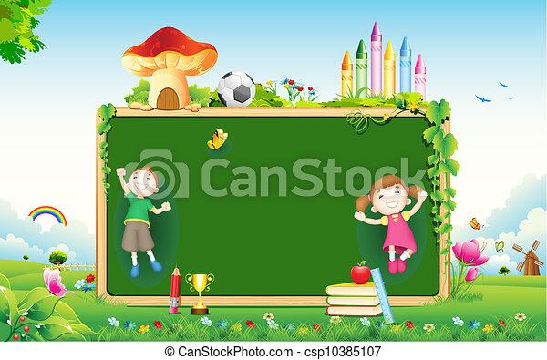 escuela, niño - csp10385107