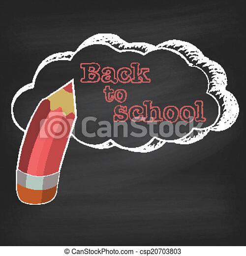 De vuelta a la escuela en pizarra - csp20703803