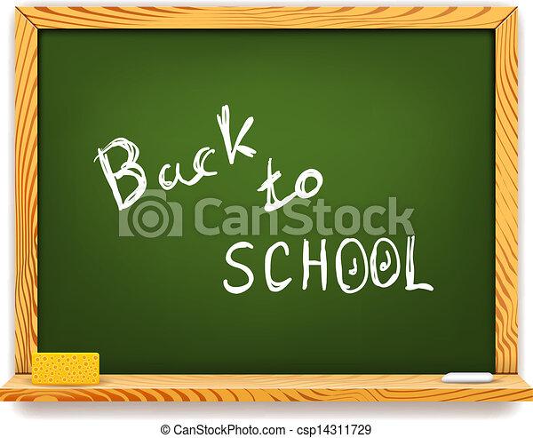 Chalkboard vuelve a la escuela - csp14311729