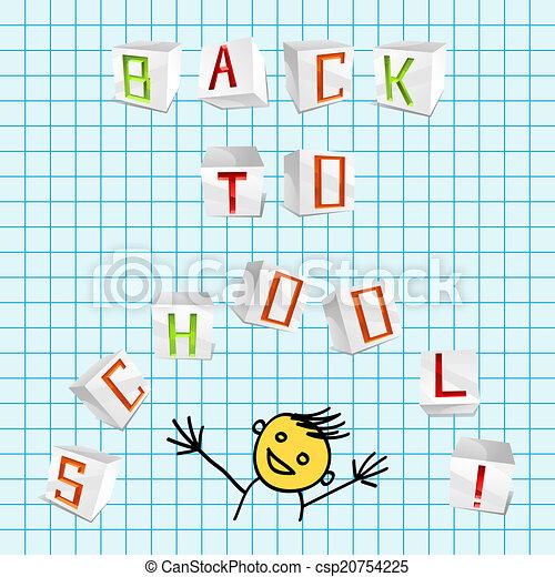 Volver a la escuela - ilustración vectorial - csp20754225