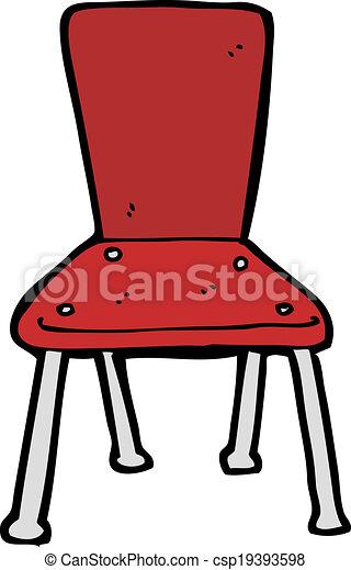 Grficos vectoriales EPS de escuela viejo silla caricatura