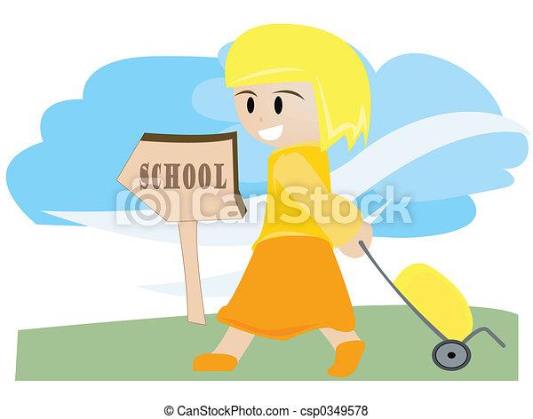 Voy a la escuela - csp0349578