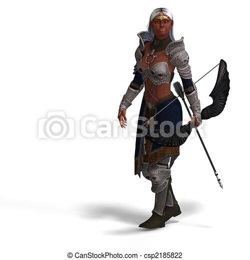 escuro, arqueiro, duende, femininas - csp2185822