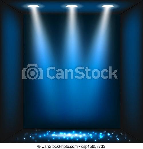 escuro azul, abstratos, fundo - csp15853733