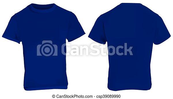 Escuro Azul Camisa Modelo