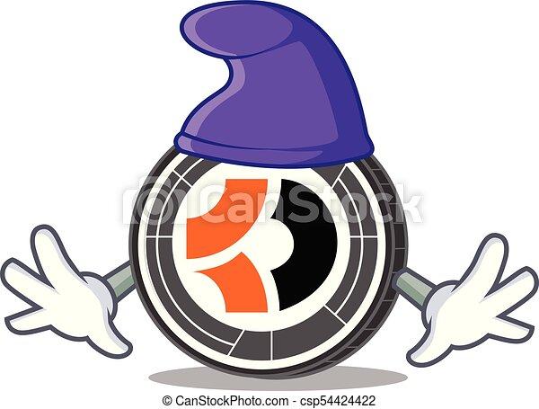 escuro, duende, personagem, bitcoin, caricatura - csp54424422