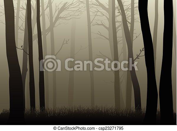 escuro, madeiras - csp23271795