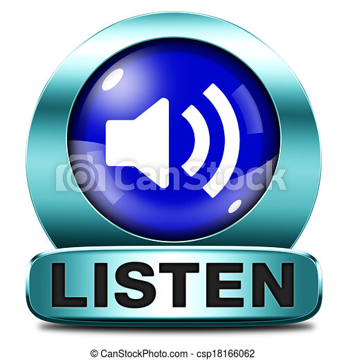 escutar, ícone - csp18166062