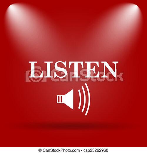 escutar, ícone - csp25262968