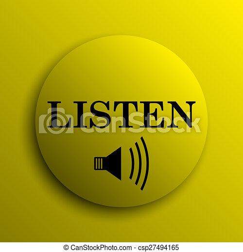 escutar, ícone - csp27494165