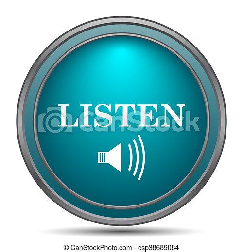 escutar, ícone - csp38689084