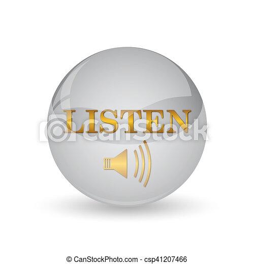 escutar, ícone - csp41207466