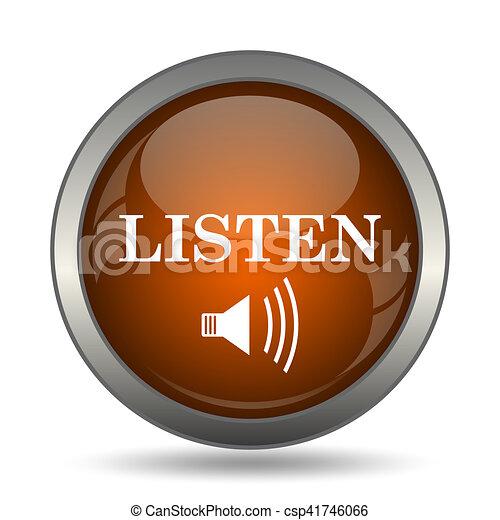 escutar, ícone - csp41746066