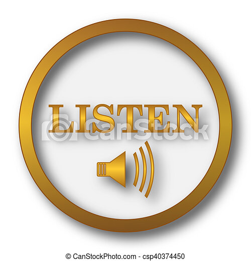 escutar, ícone - csp40374450