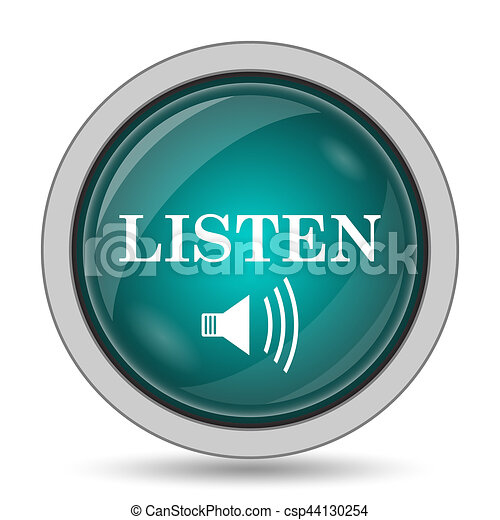 escutar, ícone - csp44130254