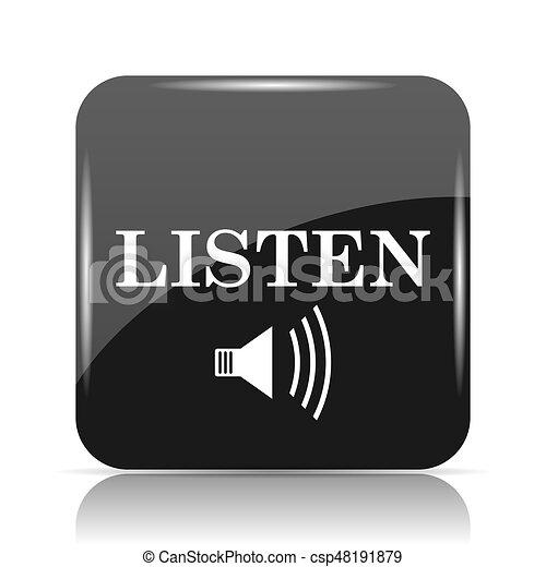 escutar, ícone - csp48191879