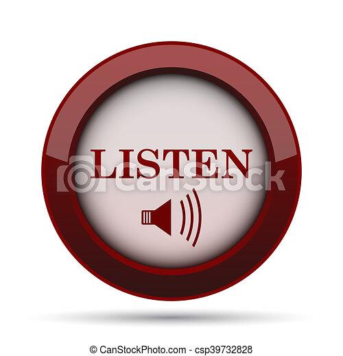 escutar, ícone - csp39732828