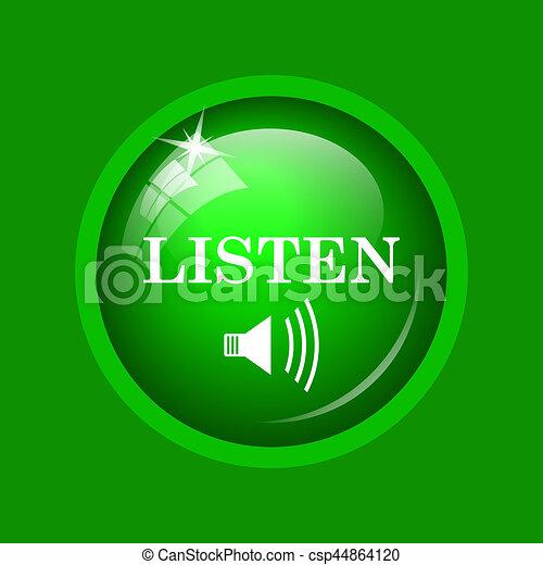 escutar, ícone - csp44864120