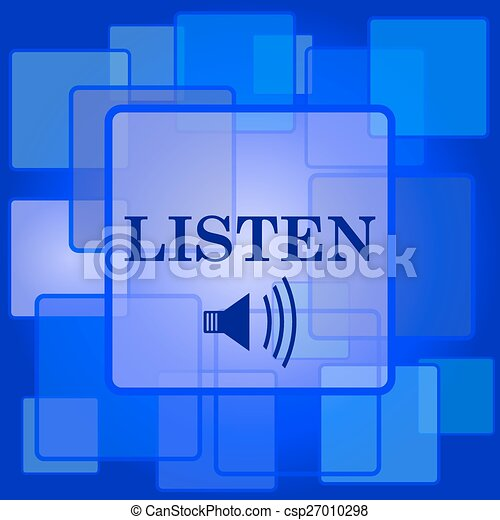 escutar, ícone - csp27010298