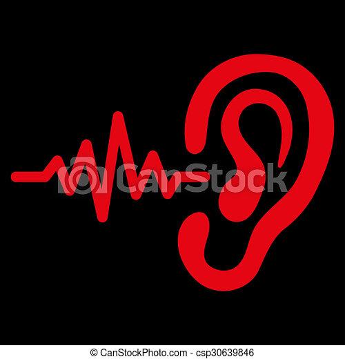 escutar, ícone - csp30639846