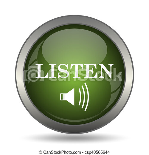 escutar, ícone - csp40565644