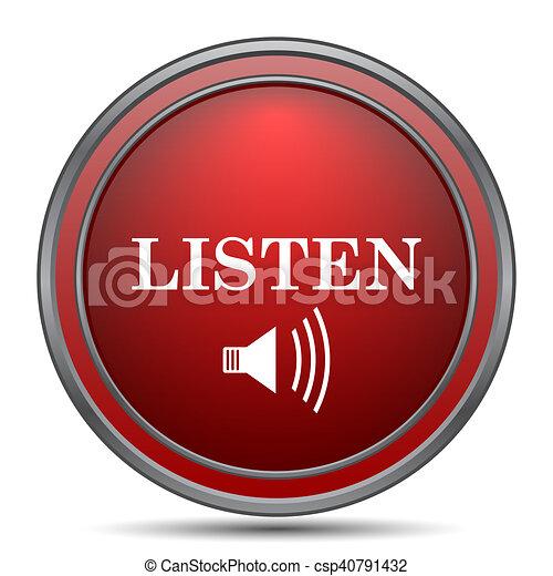 escutar, ícone - csp40791432