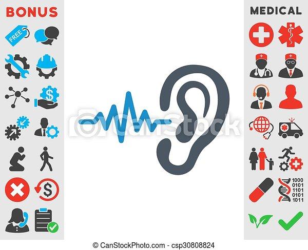 escutar, ícone - csp30808824