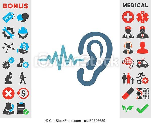 escutar, ícone - csp30796689