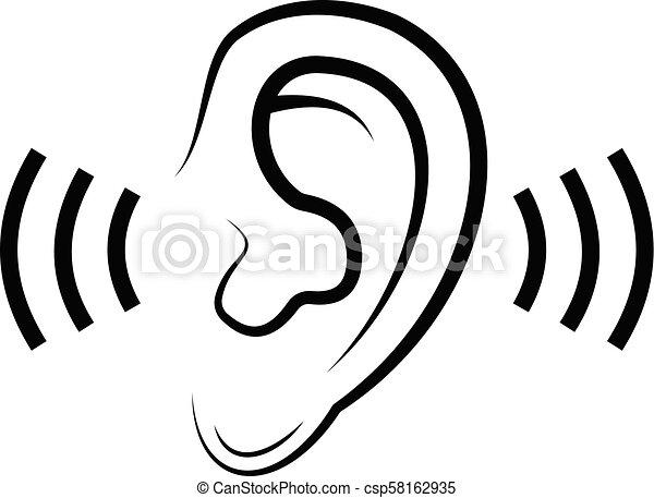 escutar, ícone - csp58162935