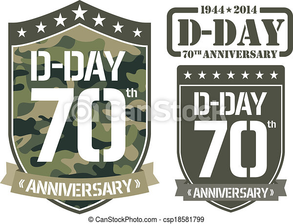 Escutcheon D-DAY Anniversary - csp18581799