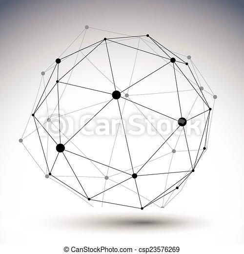Un color abstracto esférico rayado de ilustración 3D, vector di - csp23576269