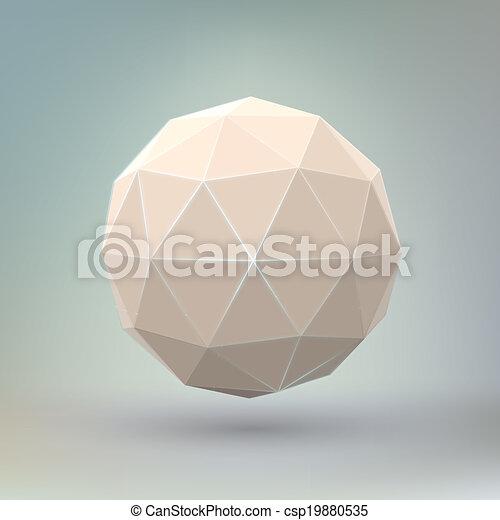 Forma geométrica abstracta. - csp19880535
