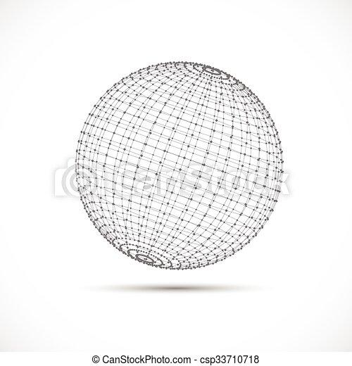 Esfera 3D - csp33710718