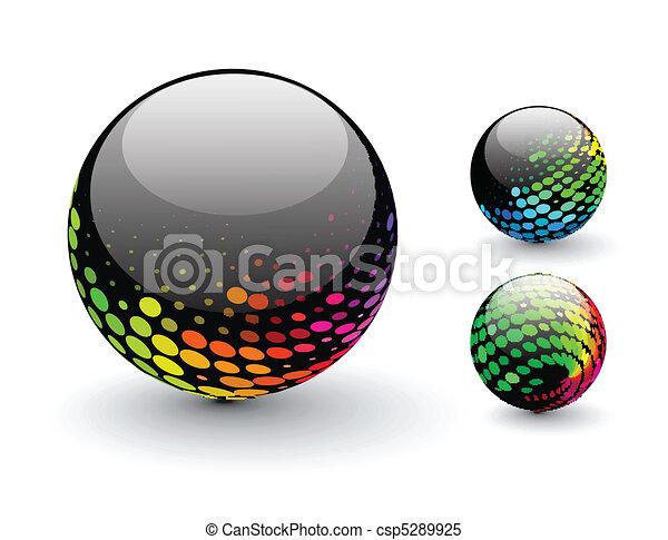 Esfera 3D - csp5289925