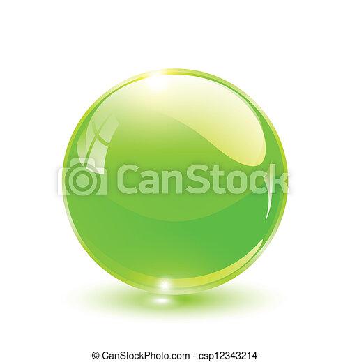 Esfera de cristal 3D - csp12343214