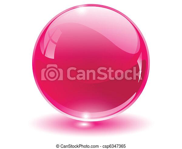 esfera, 3d, cristal, vidro - csp6347365