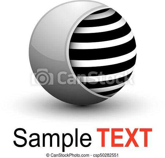 Esfera de negocios 3D - csp50282551