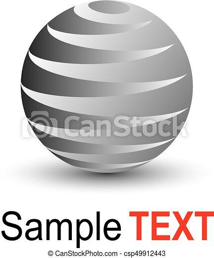 Esfera de negocios 3D - csp49912443