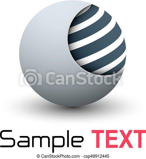 Esfera de negocios 3D - csp49912445