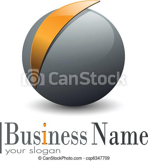 Esfera de Logo 3D - csp6347709