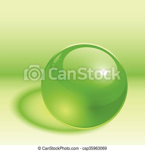 Esfera 3D verde - csp35963069