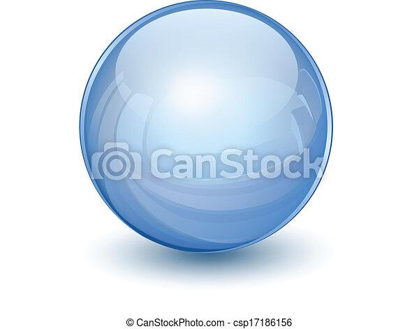 Esfera de vidrio 3D - csp17186156